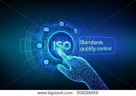 Iso Standards Quality Control Assurance Warranty Business Technology Concept. Iso Standardization Ce