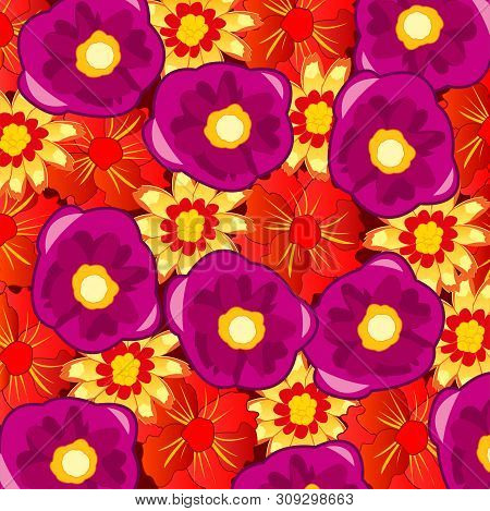 Background From Flower Of The Varied Colour