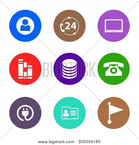 Icon Pack. Contact Person Icon, 24 Hours Icon, Laptop Icon, Archive Icon, Database Icon, Phone Icon,
