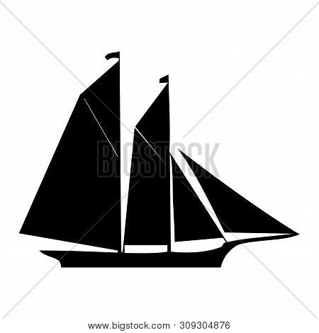 Sailing Boat Icon Isolated On White Background From Amusement Collection. Sailing Boat Icon Trendy A