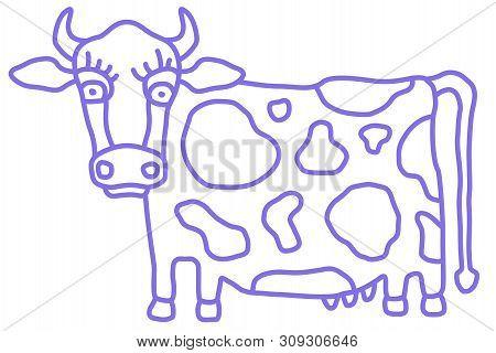 Cute Cow Caricature Vector & Photo (Free Trial) | Bigstock