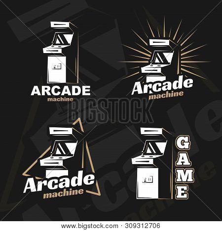Vector Image. Illustration Of A Logo, Emblem, Company Element. Game Design, Old, Retro, Vintage Arca