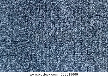 Navy Blue Background From A Soft Textile Materia