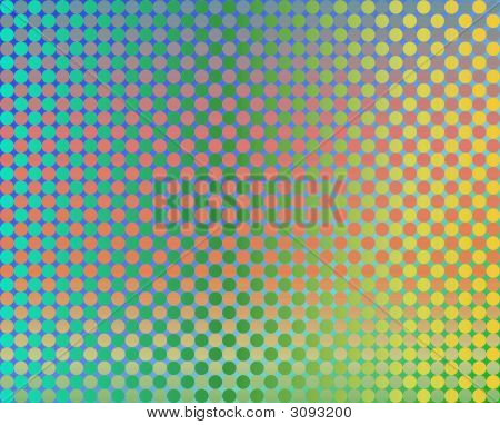 Op Art Thousand Circles Yellow To Green And Orange poster