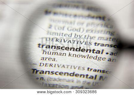 The Word Or Phrase Transcendental In A Dictionary