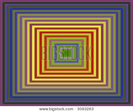 Op Art Homage To The Square Purple Green Gradient