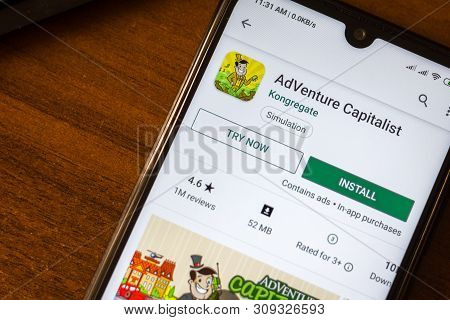Ivanovsk, Russia - June 26, 2019: Adventure Capitalist App On The Display Of Smartphone Or Tablet.
