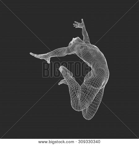 Gymnast. 3d Model Of Man. Human Body Model. Gymnastics Activities For Icon Health And Fitness Commun