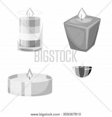 Vector Illustration Of Paraffin And Fire Icon. Set Of Paraffin And Decoration Stock Vector Illustrat