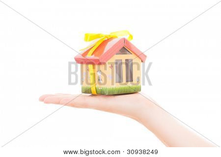 holding hand house