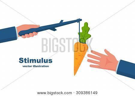 Stimulus Concept. Business Metaphor. Personnel Management Leadership. Incentive Motivate People. Han