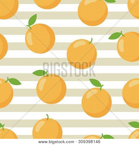 Colorful Orange Tropical Print. Trendy Print. Summer Graphic.