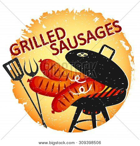 Fried Sausages On The Grill Design For A Party
