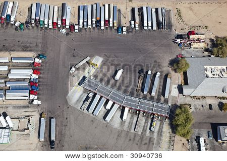 Truck Stop And Weigh Station