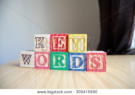 Educational Toy Cubes With Letters Organised To Display Word Keywords - Editing Metadata And Search