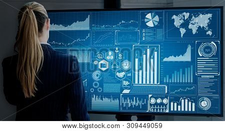 Data Analysis For Business And Finance Concept.