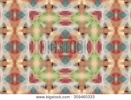 Pixel Seamless Ornamental Decoration Pattern Boho Background