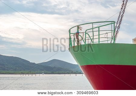 The Industrial Ship In Songkhla Lake Near By Nang Ngam Road In The Southern Sea Of Thailand