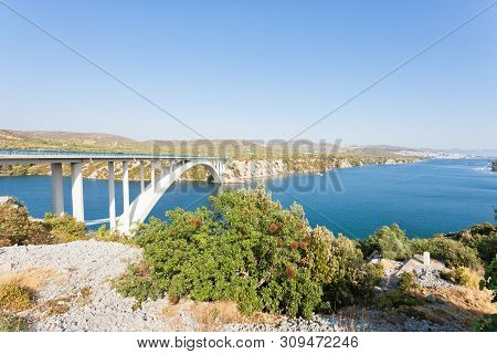 Sibenik, Croatia, Europe - Rest At The Famous Sibenski Most Bridge