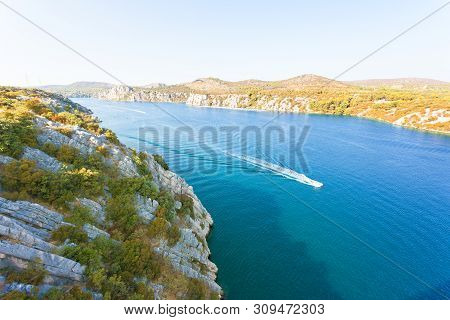 Sibenik, Croatia, Europe - Boat Trip To Sibenik Within The Nature Of Croatia