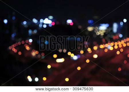 City Light . Night City Light Life Traffic. Blurred Stop Light. Vintage Night City Light. Urban City