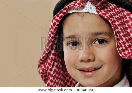 Cute arabian kid portrait