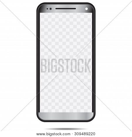 New Phone Template Black White Isolated In White Background-04