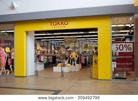 Gyor Hungary 05 07 2019 A Takko Fashion Shop In The Arkad Of Gyor