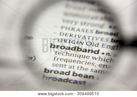 The Word Or Phrase Broadband In A Dictionary