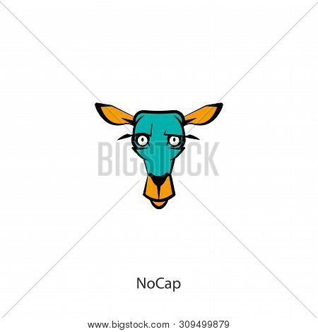 Cartoon Character Of A Forest Animal. The Head Of A Funny Cute Deer. Emotional Grimaces. Vector Illu