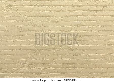 brown painted vintage old brick wall gives a harmonic background poster