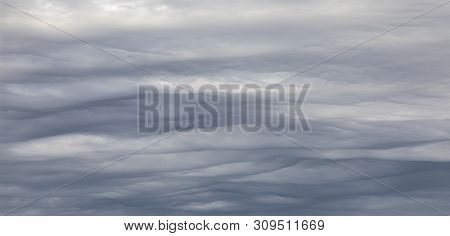 harmonic structure in grey clouds with soft waves poster