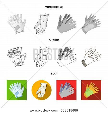 Vector Design Of Knitted And Keeper Sign. Collection Of Knitted And Hand Vector Icon For Stock.