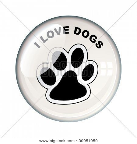 Show your love for dogs with this paw print