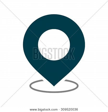 Pin On Map Pin Icon Isolated On White Background. Pin On Map Pin Icon In Trendy Design Style. Pin On