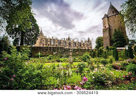Josselin, France - June 27, 2012.old Castle In Bretagne