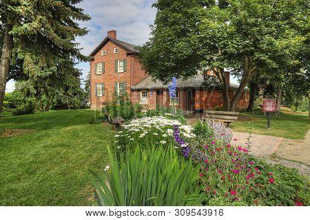 Brampton, Ontario/canada- January 7: The Historic Bovaird House In Brampton, Canada. Bovaird House W