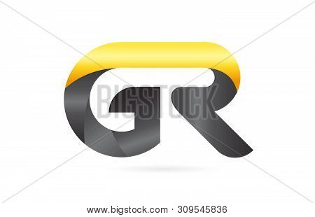 Joined Or Connected Gr G R Yellow Black Alphabet Letter Logo Combination Suitable As An Icon Design