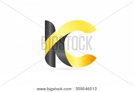 Joined Or Connected Ic I C Yellow Black Alphabet Letter Logo Combination Suitable As An Icon Design