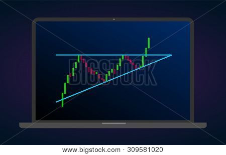 Descending Triangle Pattern Figure Technical Analysis. Vector Stock And Cryptocurrency Exchange Grap