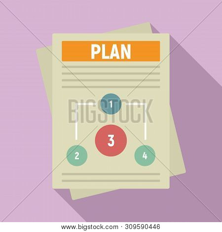 Management Plan Icon. Flat Illustration Of Management Plan Vector Icon For Web Design