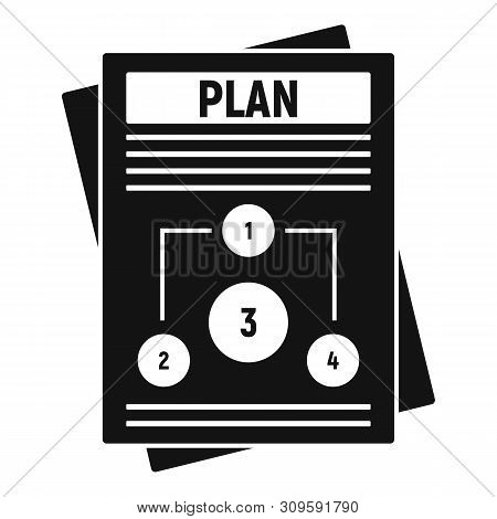 Management Plan Icon. Simple Illustration Of Management Plan Vector Icon For Web Design Isolated On