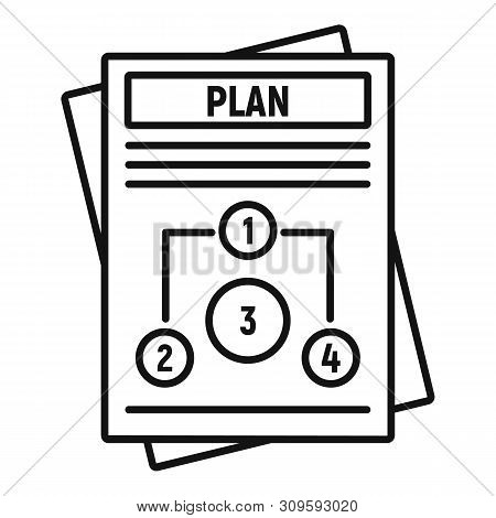 Management Plan Icon. Outline Management Plan Vector Icon For Web Design Isolated On White Backgroun