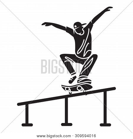 Skater Pipe Trick Icon. Simple Illustration Of Skater Pipe Trick Vector Icon For Web Design Isolated