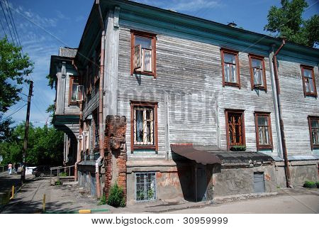 Traditional old Russian house