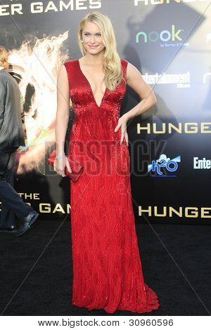LOS ANGELES, CA - MARCH 12: Leven Rambin at the premiere of Lionsgate's 'The Hunger Games' at Nokia Theater L.A. Live on March 12, 2012 in Los Angeles, California