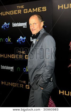 LOS ANGELES, CA - MARCH 12: Woody Harrelson at the premiere of Lionsgate's 'The Hunger Games' at Nokia Theater L.A. Live on March 12, 2012 in Los Angeles, California