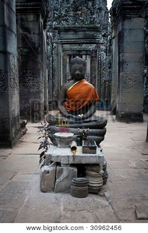 Buddha Shrine In Angkor Wat, Cambodia