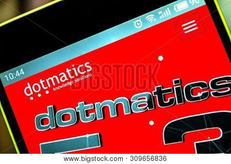 Berdyansk, Ukraine - April 5, 2019: Illustrative Editorial Of Dotmatics Website Homepage. Dotmatics