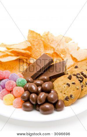 Junkfood On Plate